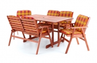 Dřevěný zahradní nábytek MERILIN COMBI 6 + luxusní sedáky ZDARMA